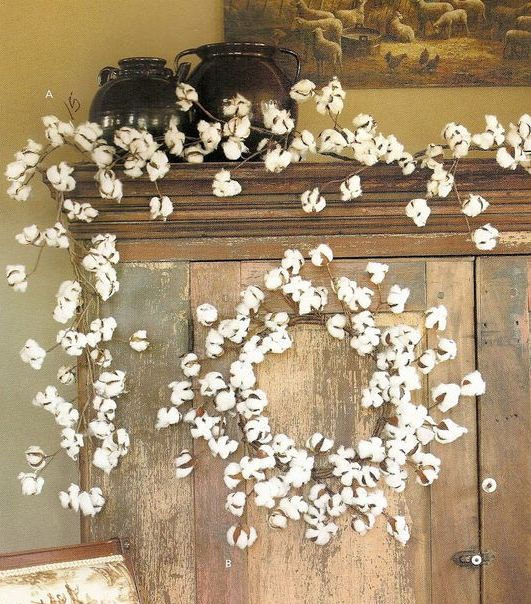 Picture of winter wreath - Cotton ballspractical ideas ...