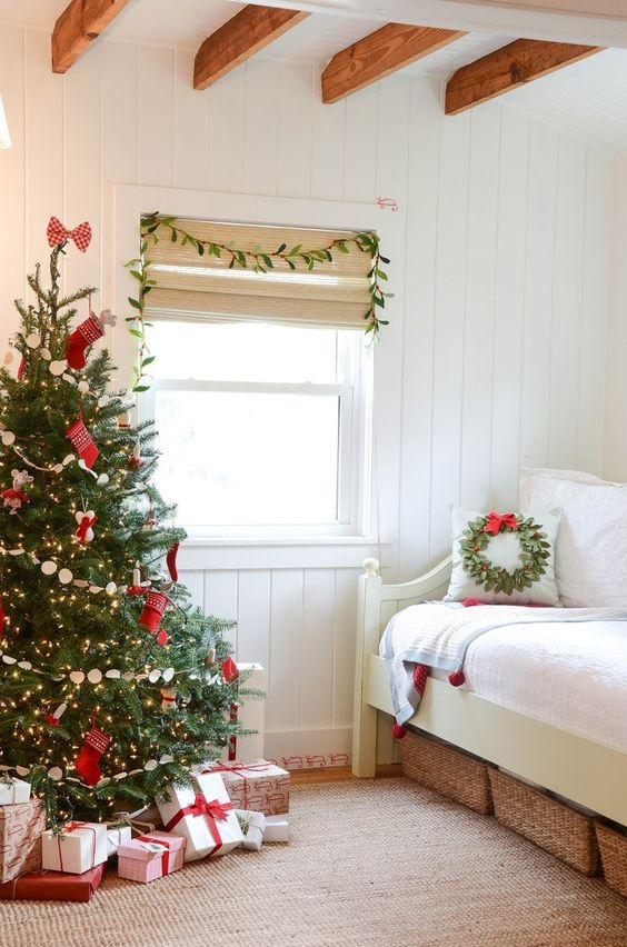 a lovely christmas tree with ornaments and lights is right what you need for decor