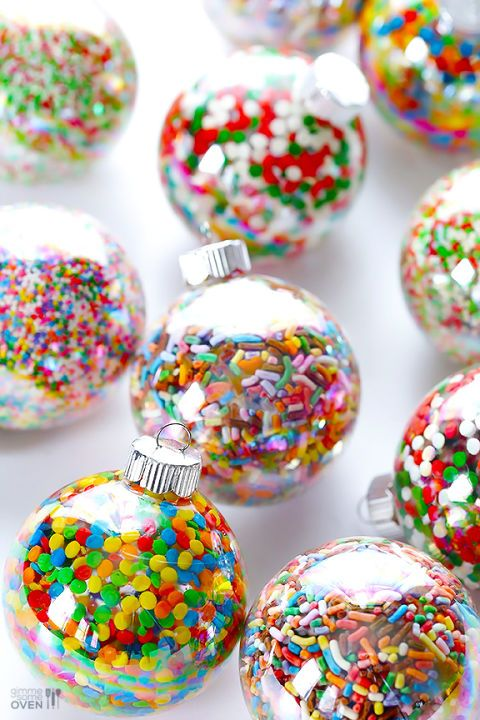 colorful sprinkles to make dessert ornaments