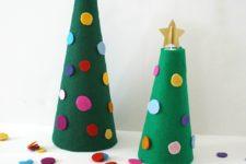DIY decorating a felt Christmas tree activity