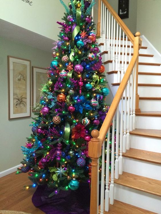 Colorful Christmas Tree Decorations.23 Colorful Christmas Tree Decor Ideas Shelterness