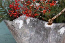 evergreen christmas decor