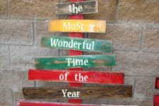 11 colorful narrow pallet tree with words