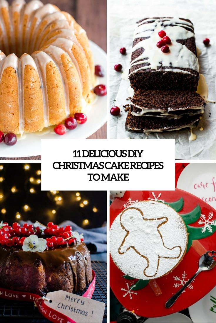 11 Delicious DIY Christmas Cake Recipes To Make