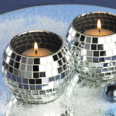 disco ball candle holders