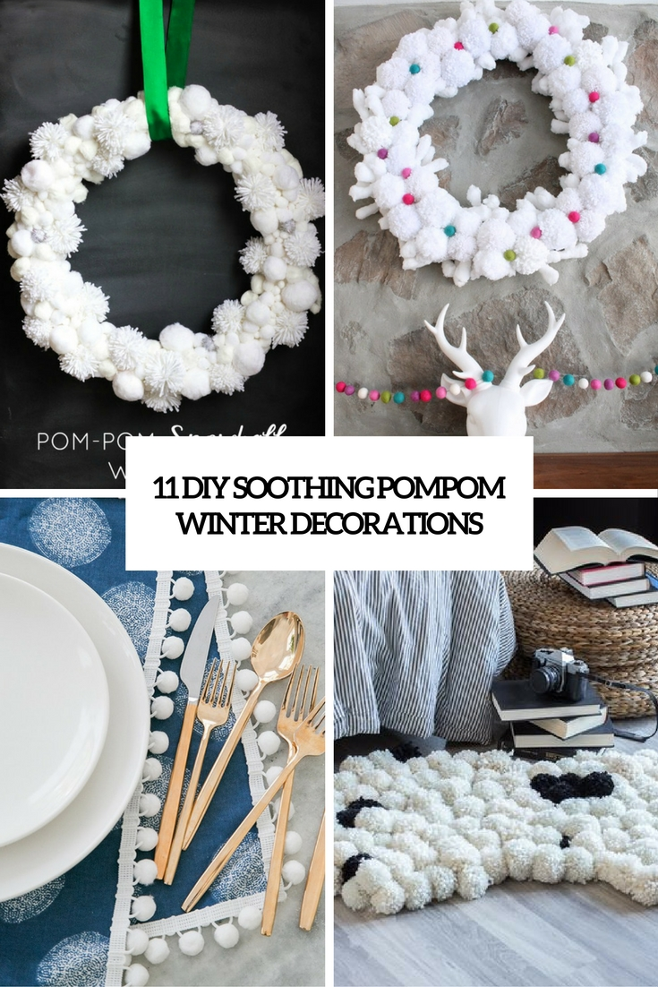 diy soothing pompom winter decorations cover