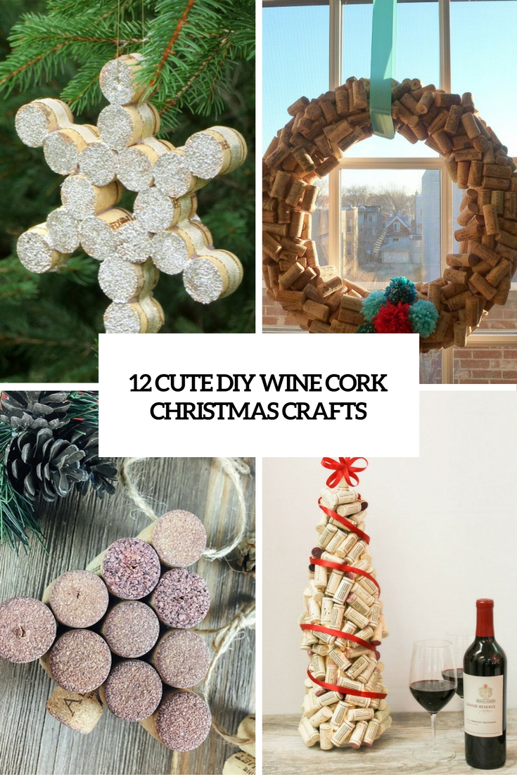 12 cute diy wine cork christmas crafts shelterness for Wine cork crafts diy