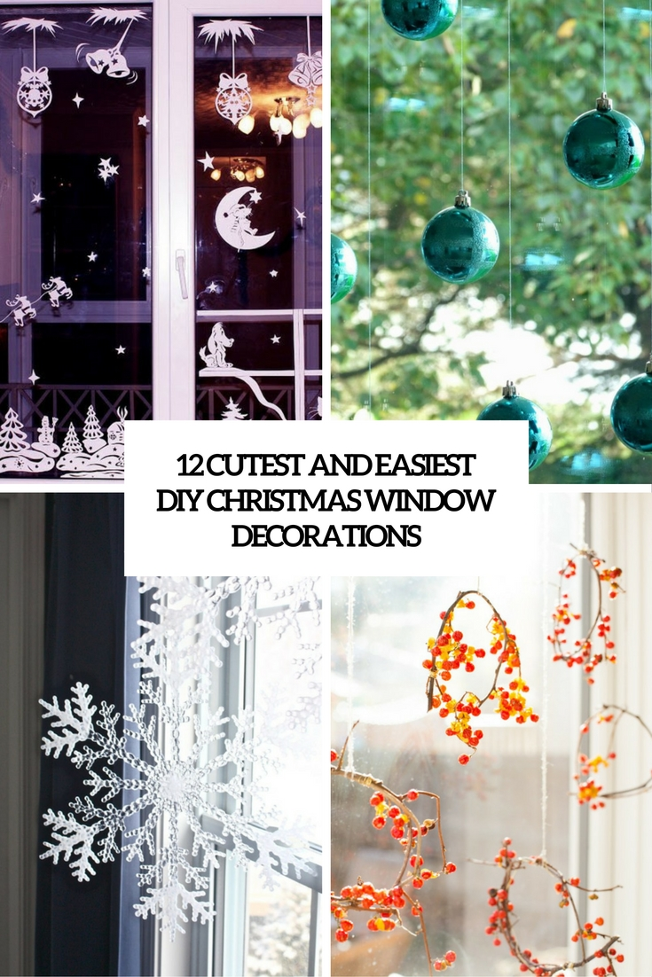 12 Cutest And Easiest DIY Christmas Window Décorations