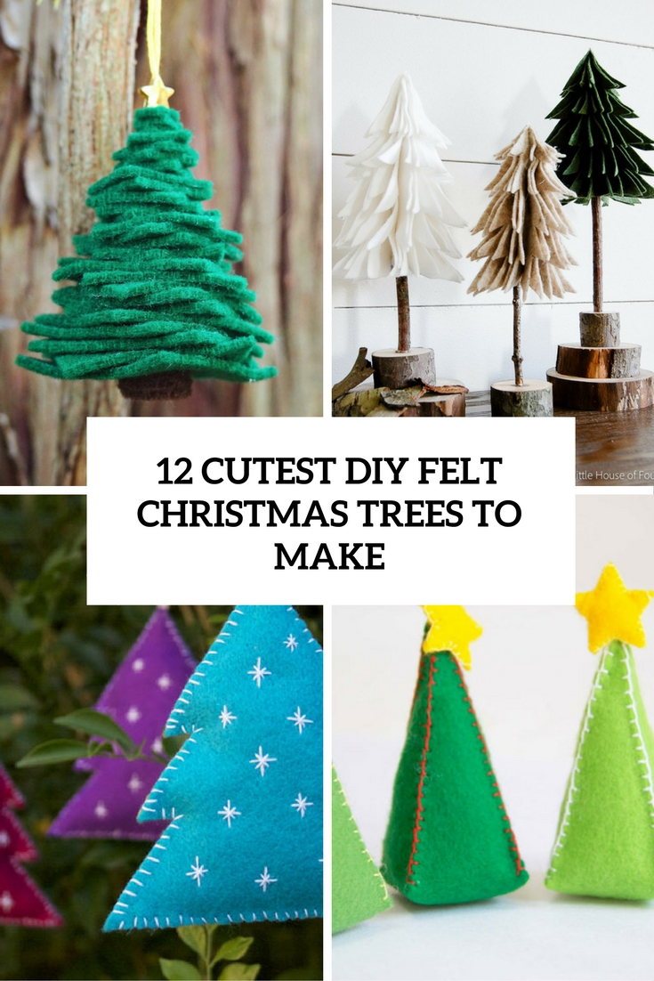 cutest diy felt christmas trees to make cover