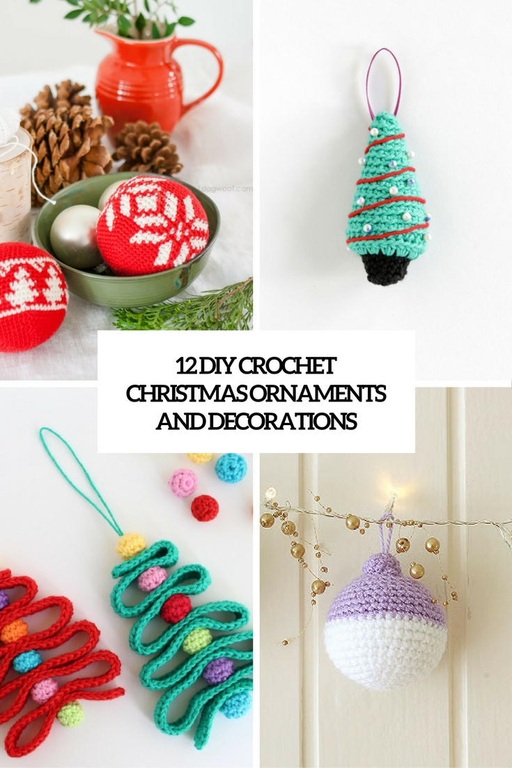 diy crochet christmas ornaments and decorations cover