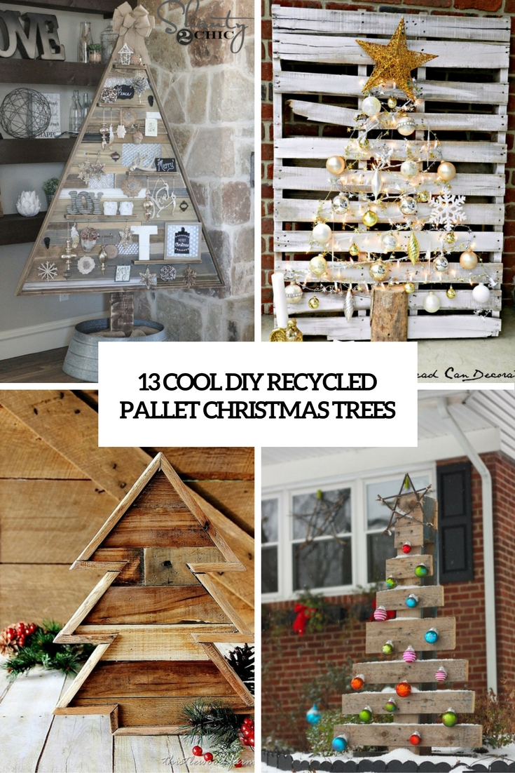 13 Cool DIY Recycled Pallet Christmas Trees