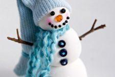 DIY snowman tree ornament