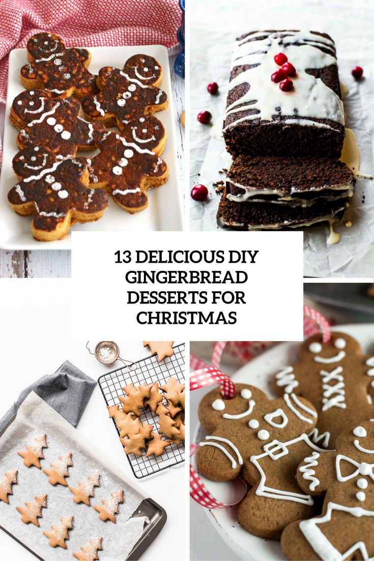 delicious diy gingerbread desserts for christmas cover