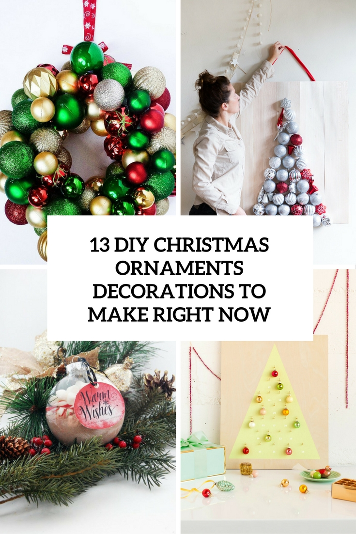 100 homemade christmas ornaments with pictures inside for Simple christmas decorations to make at home