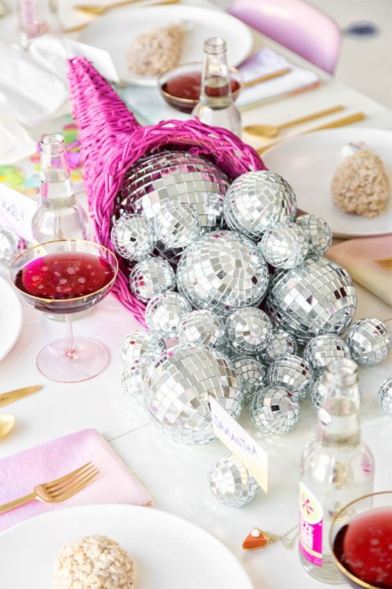 Disco Ball Table Decorations Entrancing 21 Sparkling Disco Ball Décor Ideas For Winter Parties  Shelterness Review