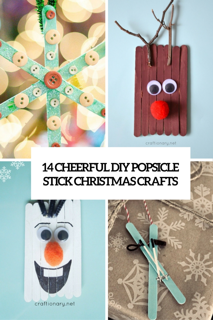 Cheerful Diy Popsicle Stick Christmas Crafts Cover