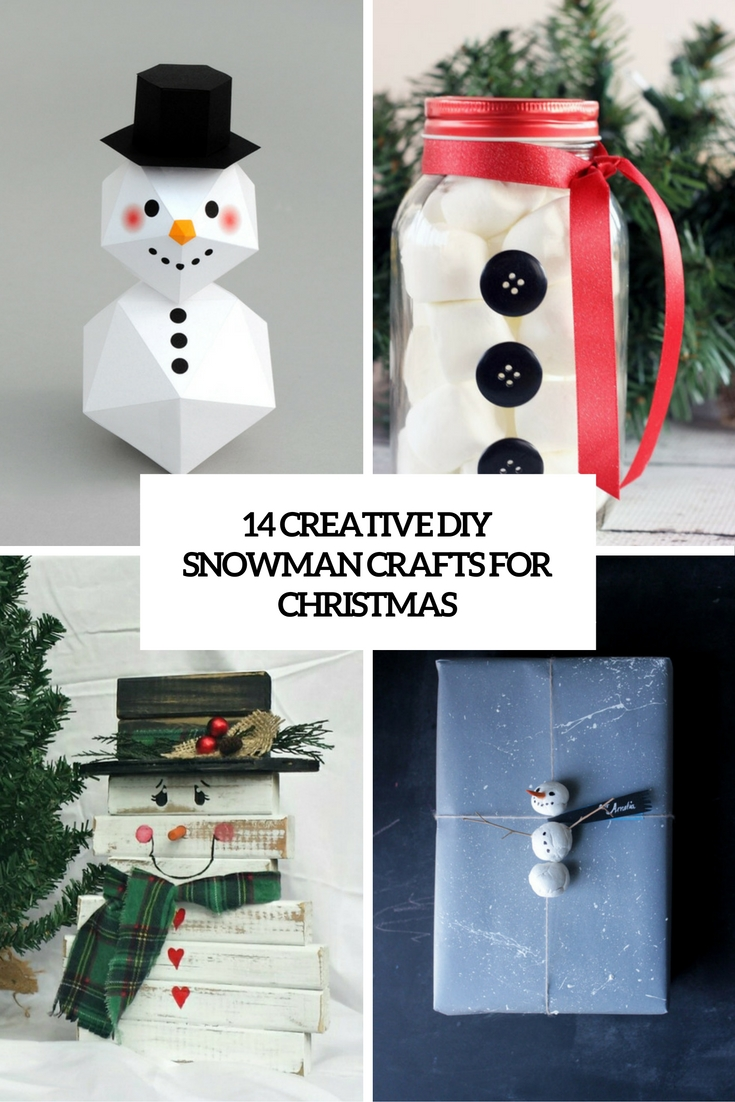 creative diy snowman crafts for christmas cover