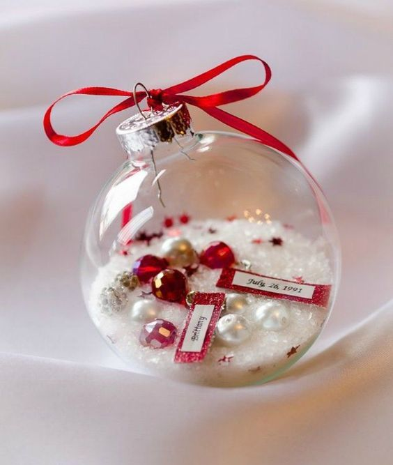 Diy Glass Ornaments: How To Fill Clear Glass Ornaments: 25 Ideas