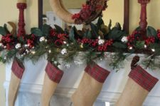 16 plaid touches will make your simple stockings cooler