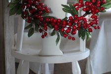 19 holly berries and leaves for a cool wreath