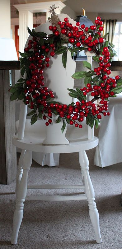 holly berries and leaves for a cool wreath