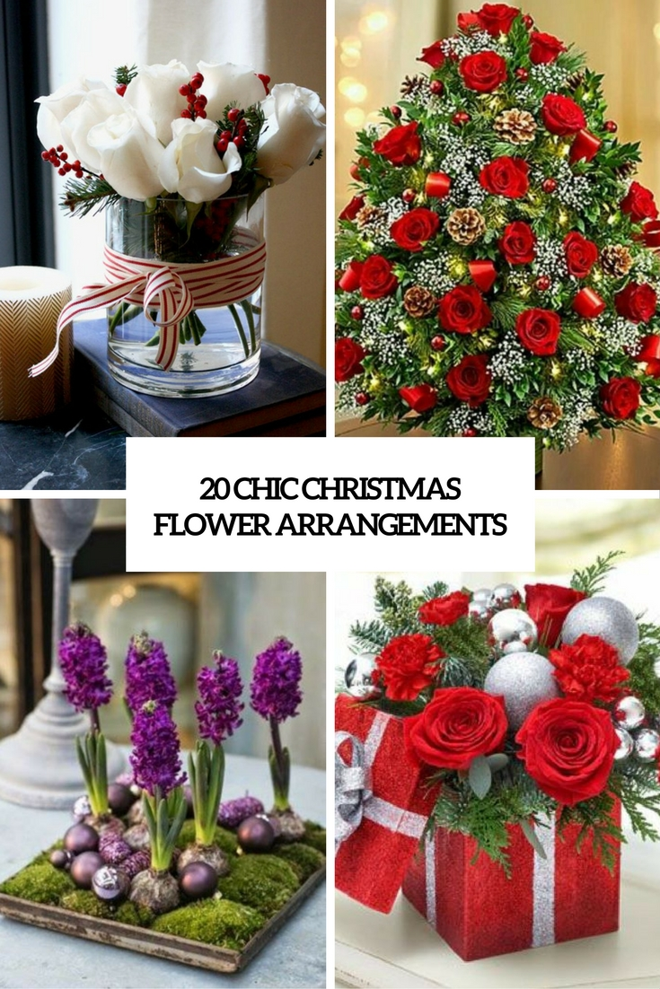 chic christmas flower arrangements cover
