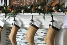 20 hang pretty burlap stockings with monograms