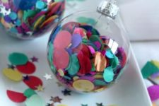 20 large confetti for filling ornaments