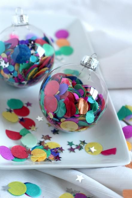 large confetti for filling ornaments