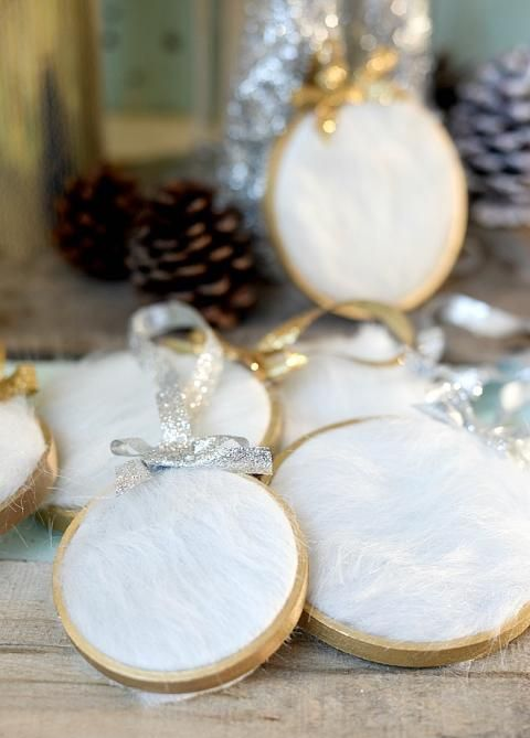 fur Christmas ornaments