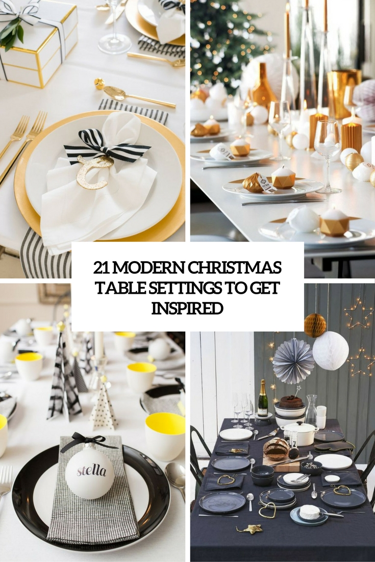 modern christmas table settings to get inspired cover  sc 1 st  Shelterness & 21 Modern Christmas Table Settings To Get Inspired - Shelterness