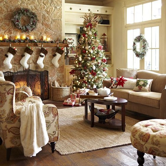 40 Cozy Christmas Living Room D Cor Ideas Shelterness
