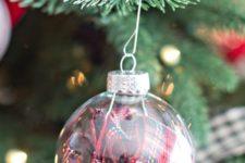 23 plaid fabric filled ornaments