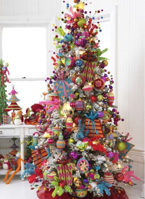 Too Much Is Never Enough For Christmas Decor These Bold Ornaments Make The Tree Invisible