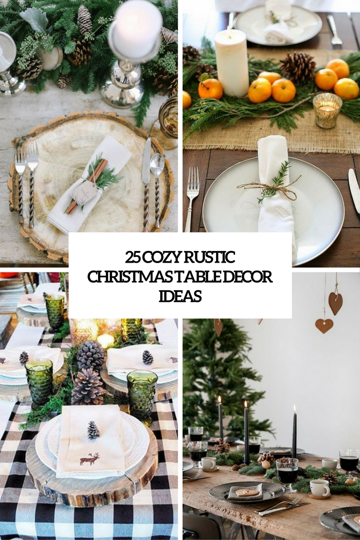 cozy rustic christmas table decor ideas cover