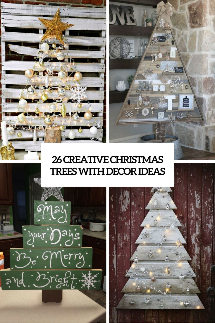 new styles dac30 67030 26 Creative Pallet Christmas Trees With Decor Ideas ...