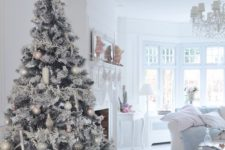 29 snowy white and pastel tree for a wwhitewashed living room