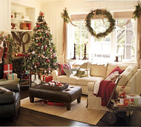 Christmas Decorations For Home Windows: 40 Cozy Christmas Living Room Décor Ideas