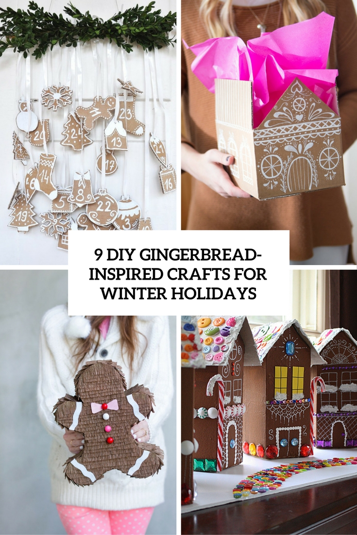 9 diy gingerbread inspired crafts for winter holidays cover