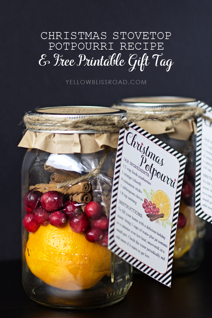 DIY Christmas potpourri gift (via www.yellowblissroad.com)