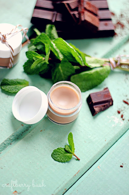 DIY chocolate mint lip balm (via www.shelterness.com)