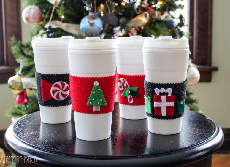 DIY no sew coffee sleeves (via www.averageinspired.com)