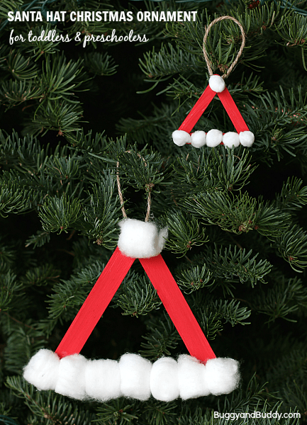 DIY Sant hat popsicle ornament (via buggyandbuddy.com)