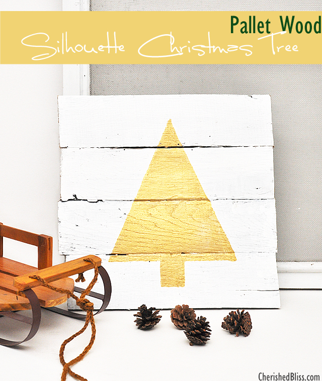 DIY pallet wood tree sign (via cherishedbliss.com)