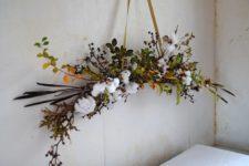 DIY winter white holiday bough