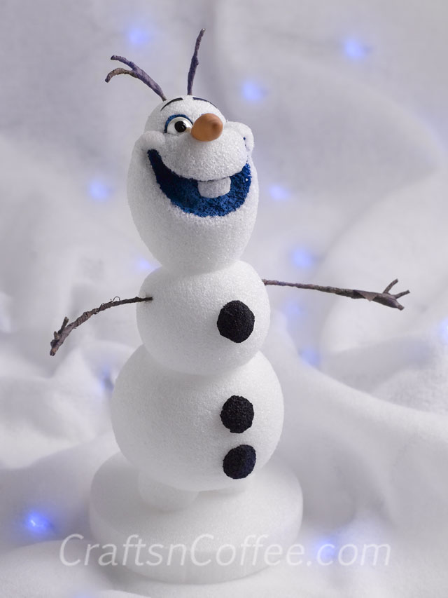 DIY Olaf from styrofoam balls (via https:)
