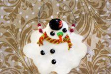 DIY creative melting snowman ornament