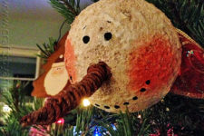 DIY vintage snowman head Christmas ornament