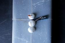 DIY adorable snowman gift topper