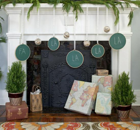 DIY green chalkboard Christmas hangings (via www.michelle-s.com)